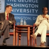 Dr. Forssell- Program Director and Panelist Cornelius Baker- Technical Advisor for AIDS and Community Health, FHI 360.