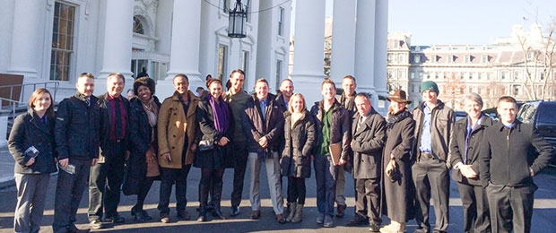 The Class of 2013-14 visit to the White House during the spring residency
