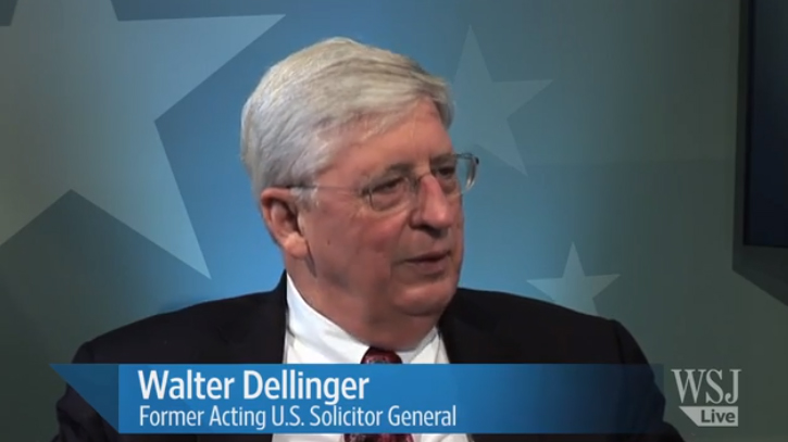 Walter Dellinger featured in the Wall Street Journal Live