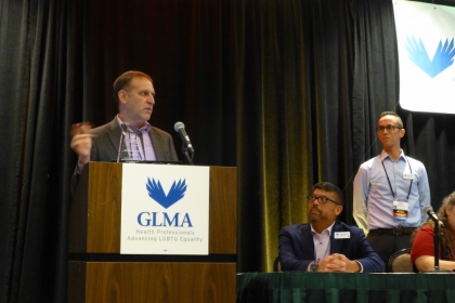Stephen Forssell, founding director of the LGBT Health Policy and Practice Program, speaks at the GLMA Annual Conference
